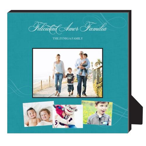 Felicidad Amor Familia Personalized Frame, - No photo insert, 11.5 x 11.5 Personalized Frame, ...