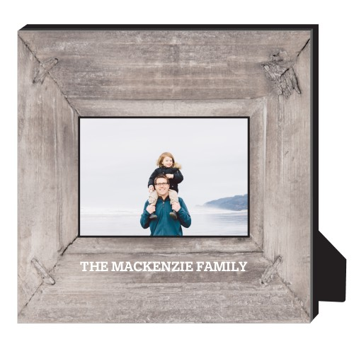 Photo Real Wood Personalized Frame, - No photo insert, 11.5 x 11.5 Personalized Frame, Brown