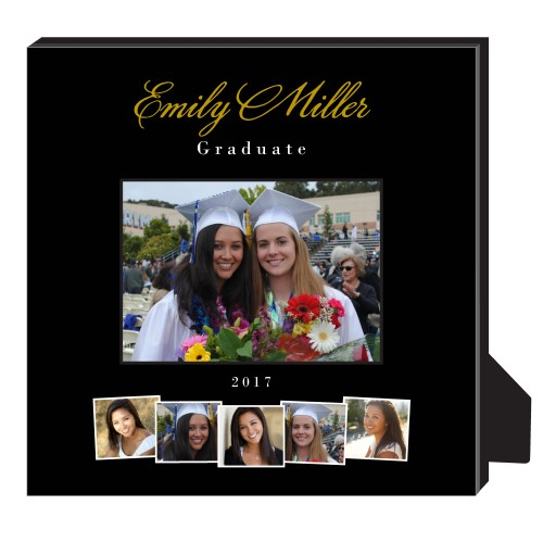 Best Friend Graduation Personalized Frame, - Photo insert, 11.5 x 11.5 Personalized Frame, Black