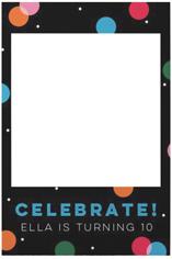 funfetti celebration selfie frame