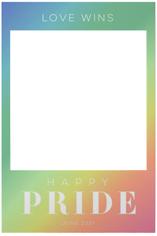 rainbow shimmer pride selfie frame