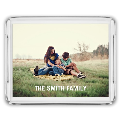 Photo Gallery Serving Tray, 11.5x9 Inches, Multicolor