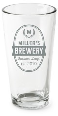 brewery pint glass