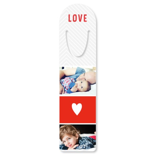 Live Love Laugh Set Custom Bookmark, Set of 1, Red
