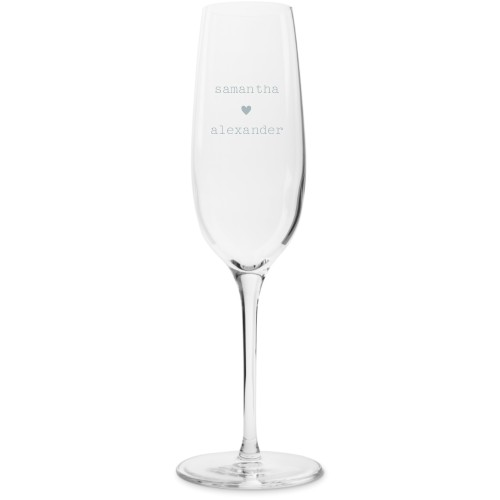 Perfect Pair Heart Champagne Flutes, Set of 1, White