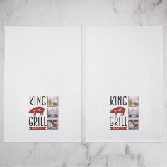 king of the grill tea towel