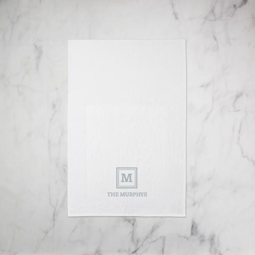 Keyline Monogram Tea Towel, Set of 1, Grey