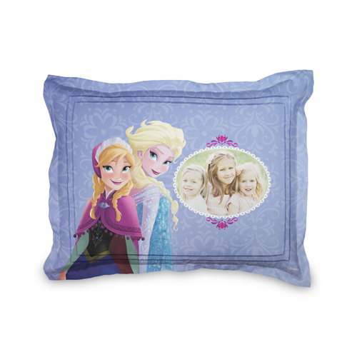 Disney Frozen Anna And Elsa Sham, Sham, Sham w/ White Back, Standard, Purple