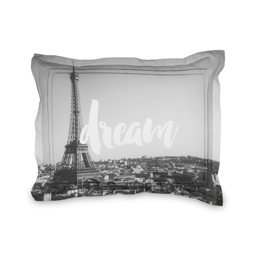 Script Dream Sham, Sham, Sham w/ White Back, Standard, DynamicColor