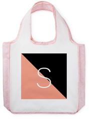 colorblock monogram reusable shopping bag