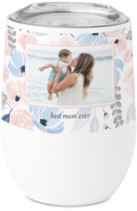 painted florals stainless steel travel tumbler