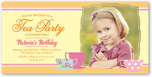 Tea Party 4x8 S Birthday
