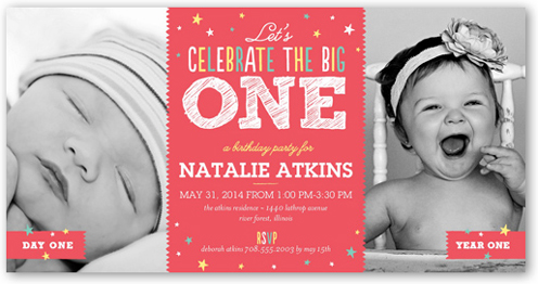 Big Celebration 4x8 Invitation Card – The Big One Birthday Invitation