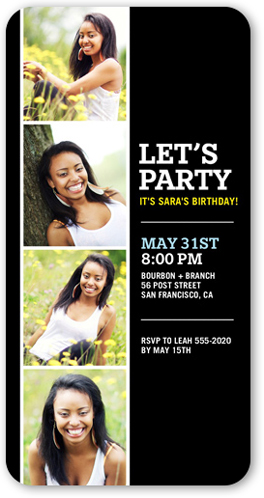 Let's Party Now Birthday Invitation by Yours Truly