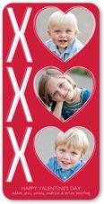 xo hearts valentines card 4x8 flat