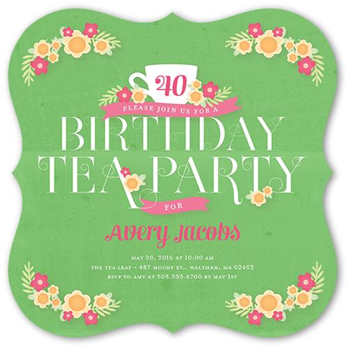 Favorite Floral Birthday Invitation, Square