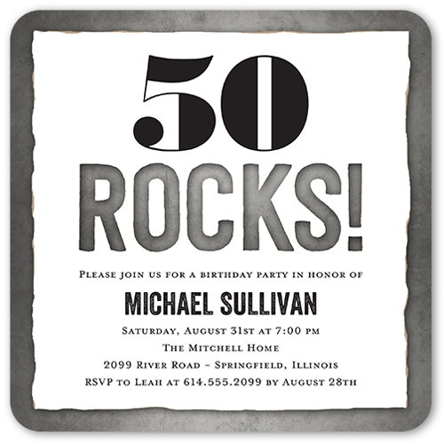 50th birthday invitations shutterfly rocking cutout birthday invitation filmwisefo Choice Image