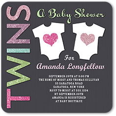 Twin baby shower invitations shutterfly baby shower invitation from 127 arrival for two girl filmwisefo