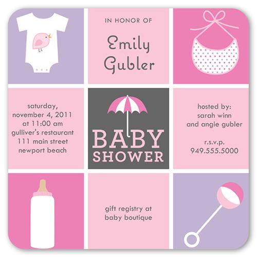 baby sprinkle girl baby shower invitation