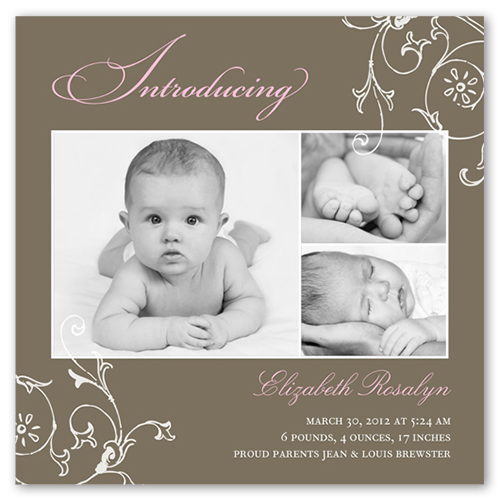Introducing Flourish Birth Announcement