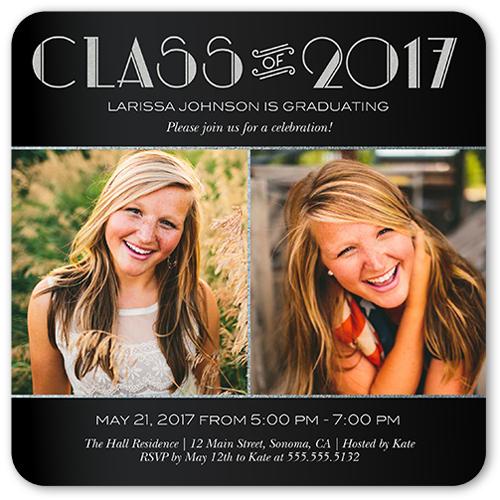 formal flair graduation invitation - Photo Graduation Invitations