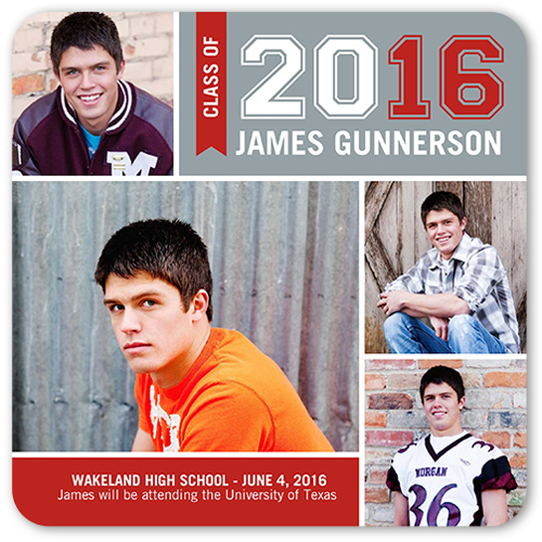 Varsity Letters Graduation Announcement