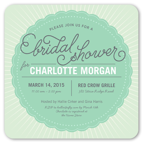 graphic gala bridal shower invitation by paper plains