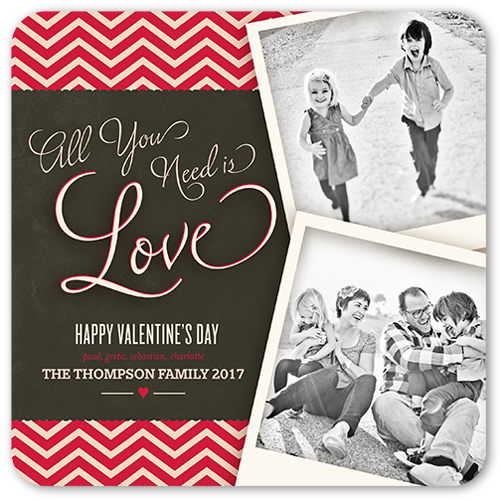 Love Chevron Valentine's Card