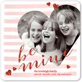 be mine sparkle valentines card 5x5 flat