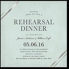stylish bands rehearsal dinner invitation 5x5 flat