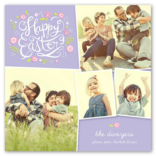 So Happy Together Easter Card, Square Corners