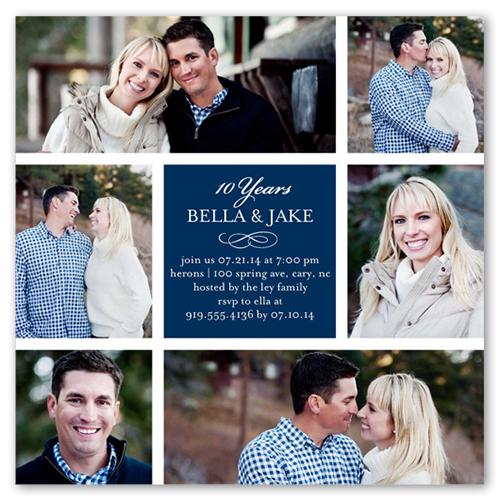 Married Memories Wedding Anniversary Invitation, Square Corners
