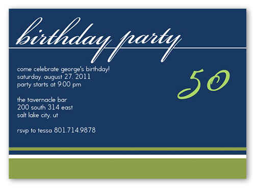 Birthday Navy Party Invitation by Petite Lemon