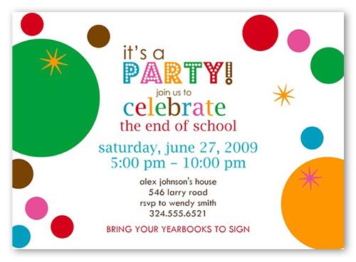 Bubbles Bright Party Invitation by Erin Condren
