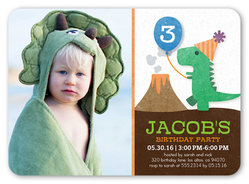 Party Dinosaur Birthday Invitation by Yours Truly