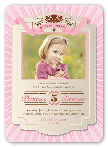 By Royal Decree Birthday Invitation, Rounded Corners