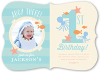 Baby Boy S First Birthday Invitations Shutterfly