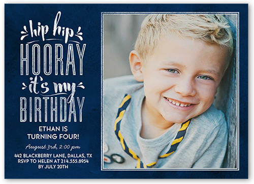 Hip Hop Hooray Boy Birthday Invitation