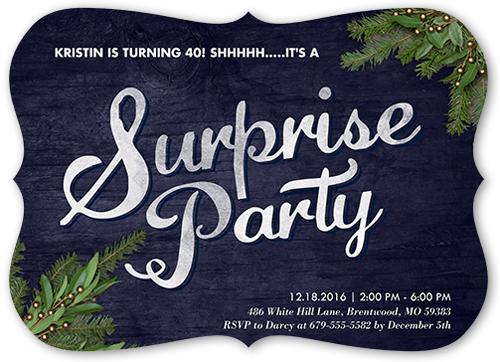 Evergreen Event Birthday Invitation, Square