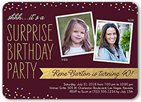 surprise confetti birthday invitation 5x7 flat