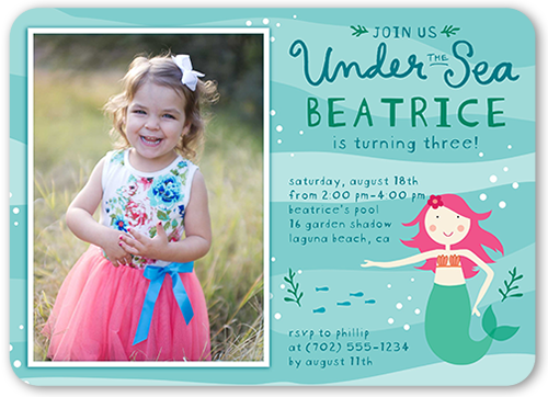 Marvelous Mermaid Birthday Invitation