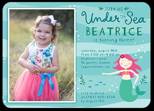 Marvelous Mermaid Birthday Invitation