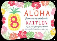 aloha celebration birthday invitation 5x7 flat