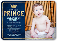 our little prince birthday invitation 5x7 flat