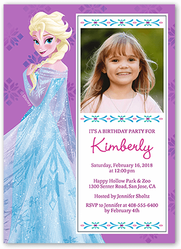 Disney Frozen Elsa Celebration Birthday Invitation