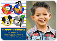 Disney Mickey And Friends Dots Birthday Invitation 5x7 Flat