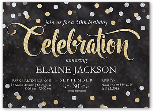 Chalked Confetti Birthday Invitation