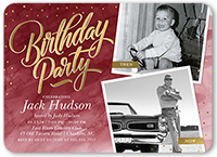 watercolor celebration birthday invitation 5x7 flat