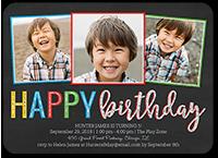 Happy Frames Boy Birthday Invitation 5x7 Flat