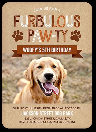 Furbulous Fun Birthday Invitation